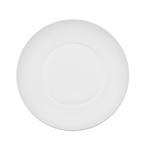 CAC China TST-W22 Transitions Porcelain Wide Rim Plate 8 1/4""