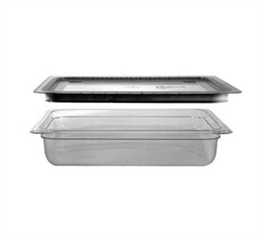 "Franklin Machine Products  247-1141 Translucent Polypropylene Third-Size Food Pan 4"" Deep"
