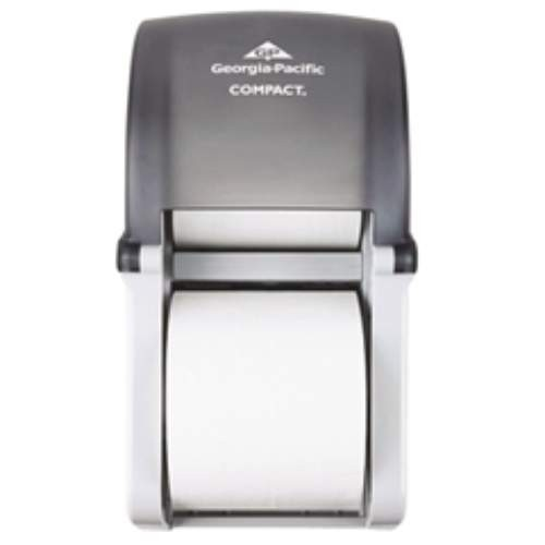 Transluscent Smoke Vertical Double Toliet Tissue Dispenser