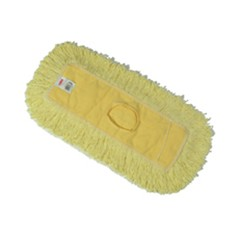 Trapper Commercial Dust Mop, Looped-end, 5 x 12, Yellow