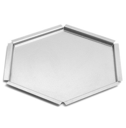 "Rosseto SM121 Honeycomb™ Large Textured Stainless Steel Tray Surface 18"" x 18"" x 2""H"