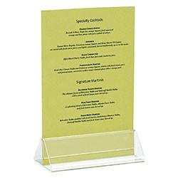 """TableCraft ACH42 Triangle Acrylic Card Holder, 4"""" x 2"""" x 1-1/2"""""""