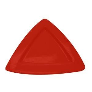 Triangle Deep Plate Red,11 1/2