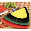Triangle Flat Plate Black, 10 1/2