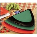 """CAC China TRG-23GR Festiware Triangle Flat Plate, Green 12 1/2"""""""