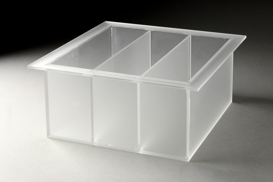 Rosseto LTT1371 Large Frosted Triple Tray for Mod Pod Buffet System