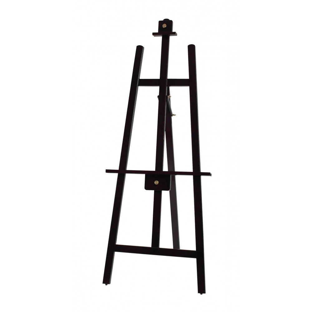 Tripod Display Easel, Mahogany Color