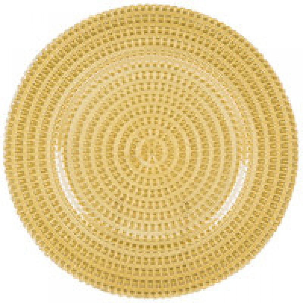 Tripoli Gold Charger Plate- Glass