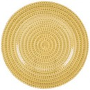 "Jay Import 1470357 Tripoli Gold Glass 13"" Charger Plate"