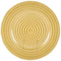 """Jay Import 1470357 Tripoli Gold Glass 13"""" Charger Plate"""