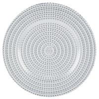Tripoli Silver Charger Plate- Glass