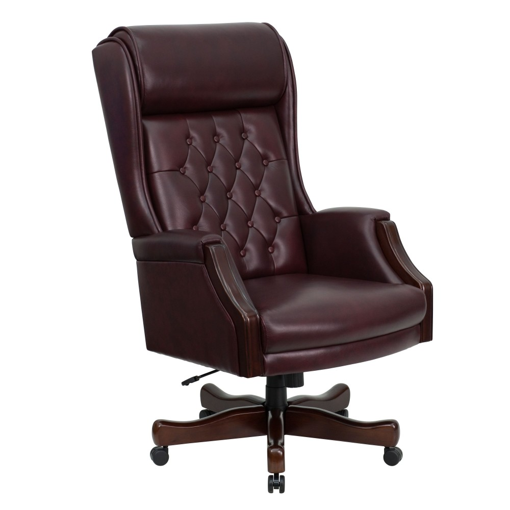 Tufted High Back Executive Leather Office Chair