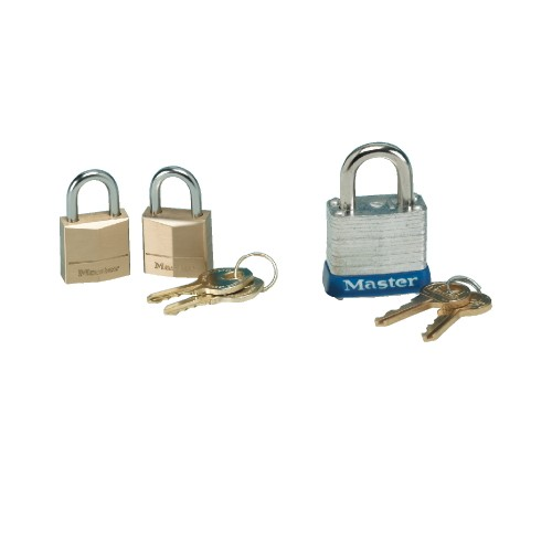 Tumbler Padlocks, Twin Brass, Three-Pin