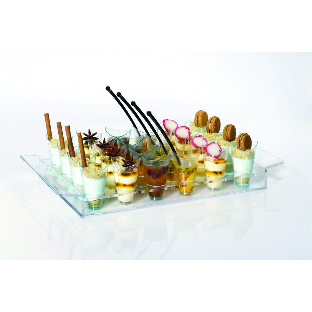 Rosseto TWC692 Clear Acrylic Twist Cup Tray, Holds 24 Twist Cups