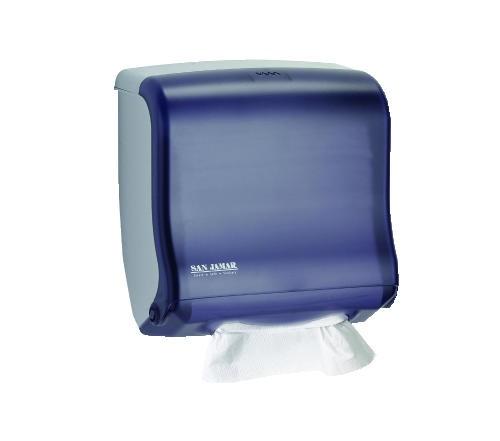 San Jamar Ultrafold Fusion C-Fold & Multifold Towel Dispenser, Black Pearl