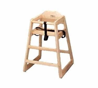 TableCraft 65 Natural Hardwood High Chair, Unassembled