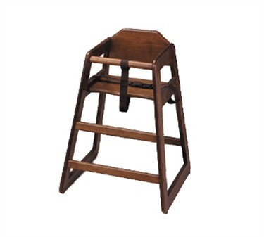 TableCraft 66 Walnut Finish Hardwood High Chair, Unassembled