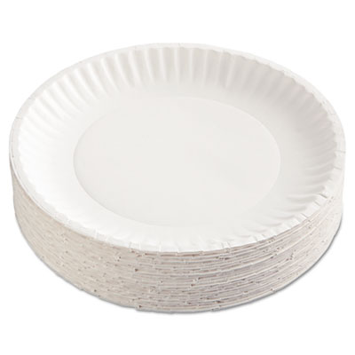 Uncoated White Paper Plates, 9