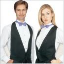 Uni-Sex Black Backless Poly Vests