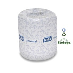 Universal Bath Tissue, 2-Ply, White, 4 x 3.75 Sheet, 500 Sheets/Roll