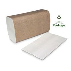 Universal Hand Towel, Singlefold, 1-Ply, 9 1/10 x 10 3/10, White, 250/Pack