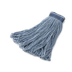 Universal Headband Mop Heads, Cotton/Synthetic, 24 oz. Blue