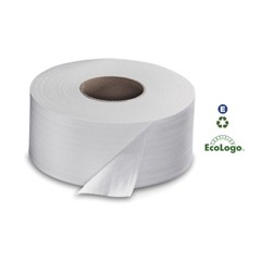 Universal Jumbo Bath Tissue, 2-Ply, White, 3.6