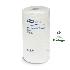Universal Perforated Towel Roll, Two-Ply, 11 x 9, White, 210/Roll