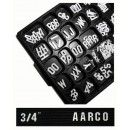 Aarco Products GFD.75 Universal Single Tab White Gothic 3/4 Inch Letters Double Set
