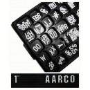 Aarco Products GFD1.0 Universal White Gothic 1 Inch Letters Double Set