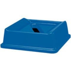Untouchable Slotted Recycling Top, Square, 20 1/8 x 20 1/8 x 6 1/4, Blue
