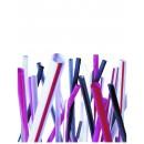 Unwrapped Black Jumbo Straws