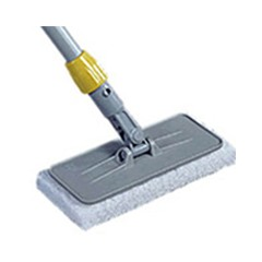 Upright Scrubber Pad Holder with Universal Locking Collar, Plastic, Gray