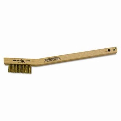 Utility Brush, Natural Wood Handle, Brass Bristles