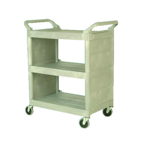 Utility Cart with Enclosed End Panels, 3-Shelf