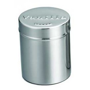 Stainless Steel Vanilla Shaker, 6 Oz