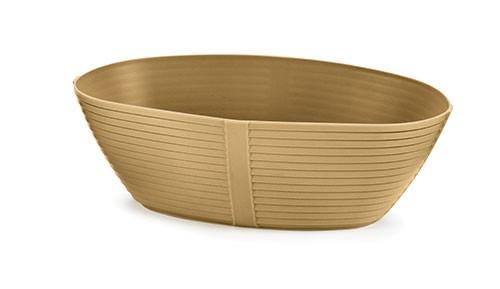 "TableCraft 974BE Oval Venetian Plastic Basket, 9-1/4"" x 5-3/4"" x 3"""