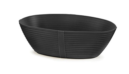 "TableCraft 974BK Oval Venetian Plastic Basket, 9-1/4"" x 5-3/4"" x 3"""