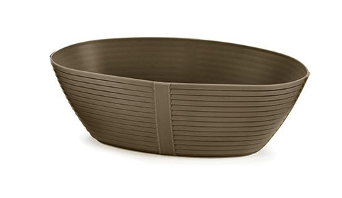 "TableCraft 974BR Oval Venetian Plastic Basket, 9-1/4"" x 5-3/4"" x 3"""