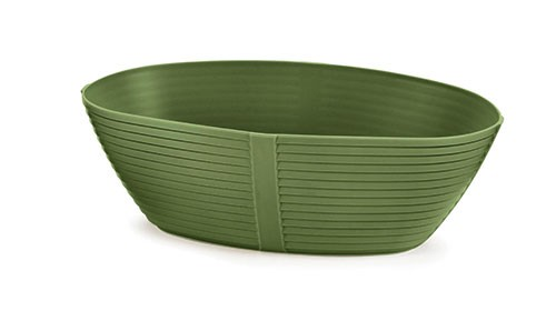 "TableCraft 974GN Oval Venetian Plastic Basket, 9-1/4"" x 5-3/4"" x 3"""