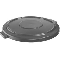 Vented Round Brute Flat Top Lid, 24 1/2 x 1 1/2, Gray