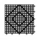 "Franklin Machine Products  280-1487 Versa Mat Black Shelf Liner 12"" x 12"""