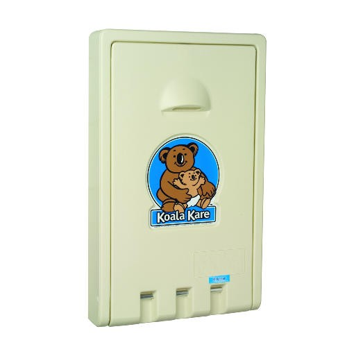 Vertical Baby Changing Station, Cream