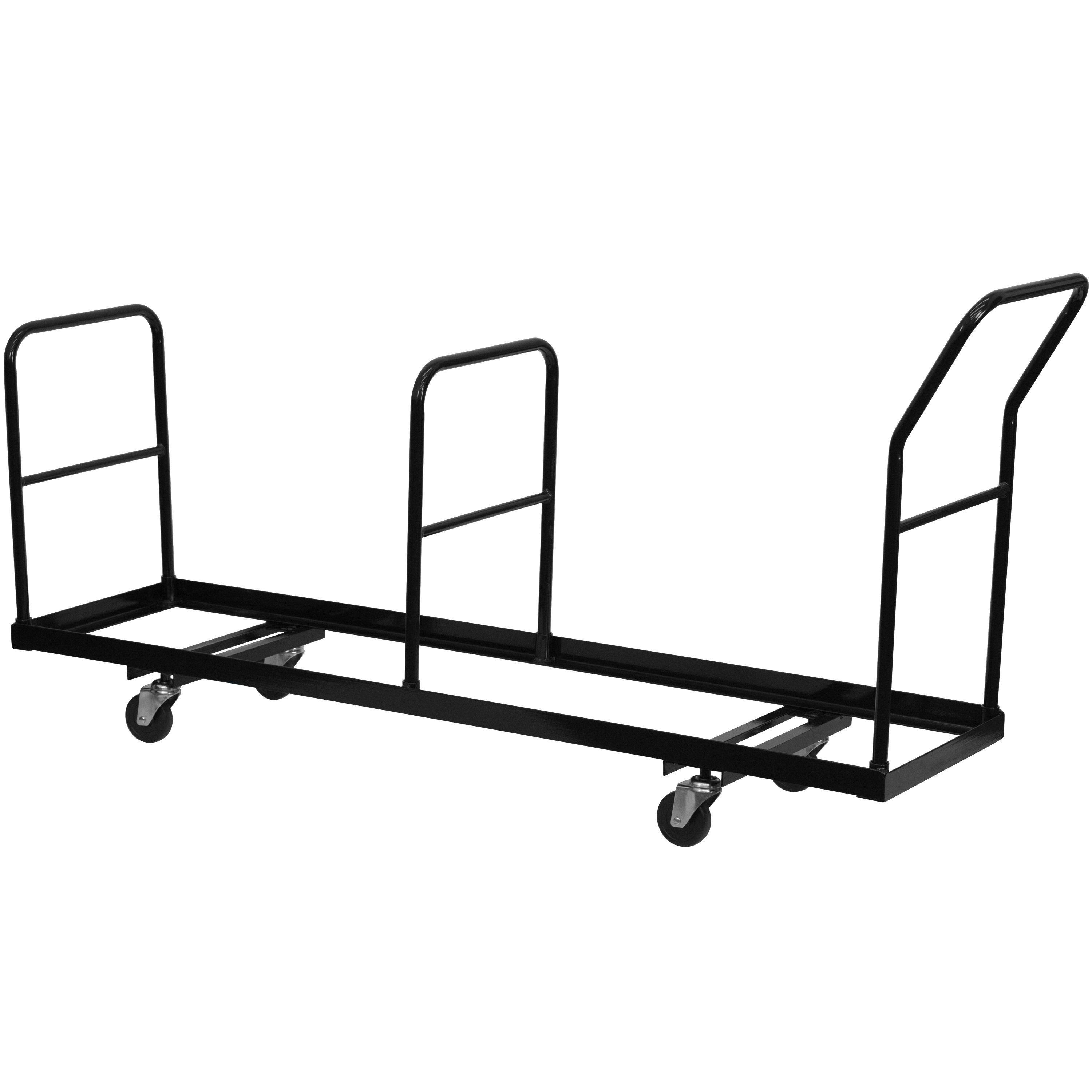 Flash Furniture NG-DOLLY-309-35-GG Vertical Storage Folding Chair Dolly 35 Chair Capacity