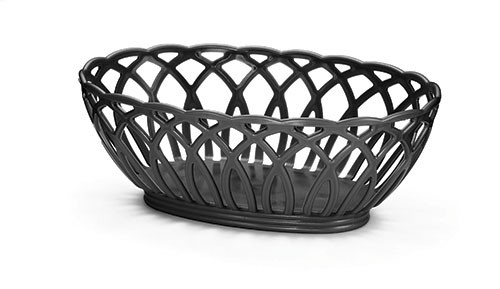 TableCraft 1374BK Vineyard Oval Basket, Black 9 x 6-1/2 x 3-1/4""