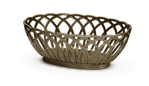 Vineyard Oval Basket, Brown, Polypropylene, 9 X 6-1/2 X 3-1/4