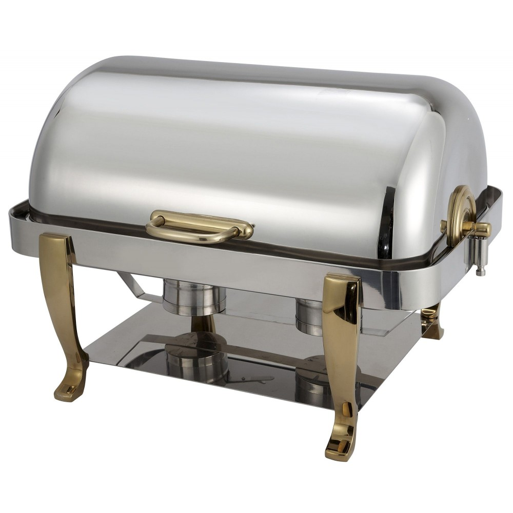 Vintage Full Size Roll Top 18/8 Stainless Chafer