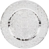 "Jay Import 1270250-4 Vintage Silver Melamine 13"" Charger Plate"