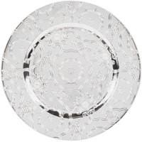 "Jay Import 1270250-4 Vintage Silver Melamine 13"" Charger Plate"