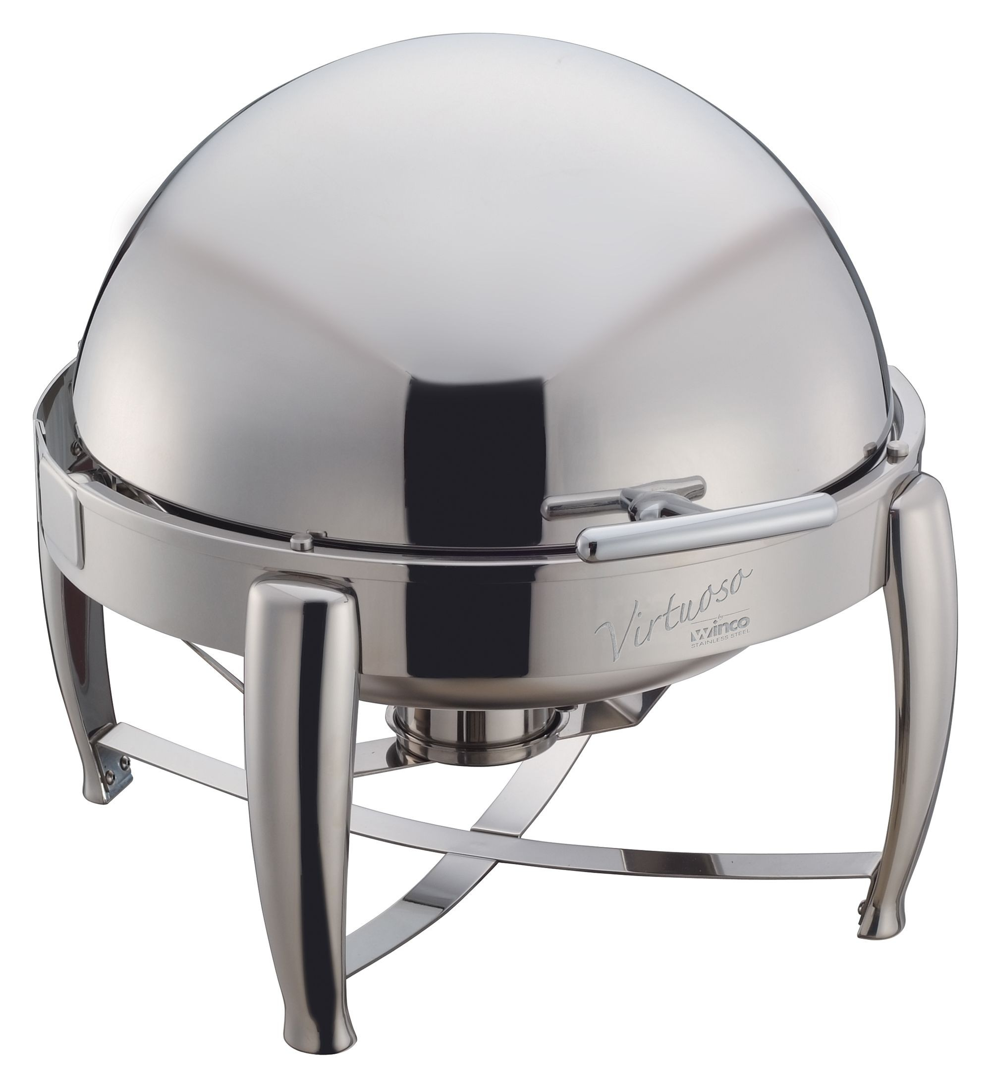 Virtuoso Stainless Steel Round Roll Top Chafer 6 Qt